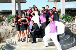 Quinceanera Hot pink & black court.JPG