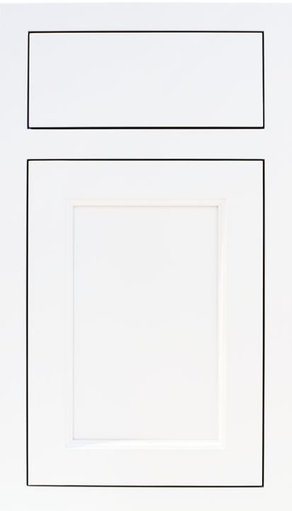 Flush Inset, Shaker Door and Slab Drawer