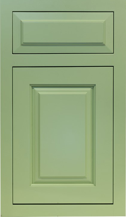 Flush Inset with Raised Panel door and r