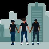 Black Men and Women in Solidarity - Back