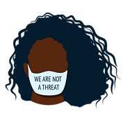 Black Woman - We Are Not a Threat Mask.p