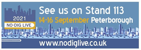 Join us at NO-DIG Live Peterborough14th-16th of September