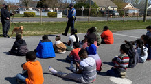 Local Police give K-9 demo to Pod Learning Students...