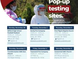 PopUp Covid Testing Sites KENT 11/30-12/4