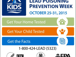 National Lead Poisoning Prevention Week is October 25-31, 2015