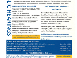 Public Hearings: Fairness in the Criminal Justice System