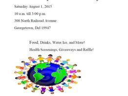 Community Awareness Day Aug 1