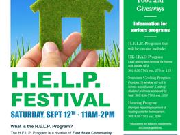 H.E.L.P. Festival Sept. 12