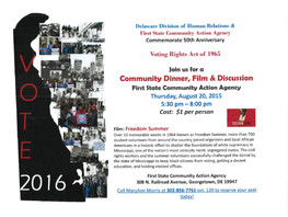 $1 Dinner & Movie ~ Celebrating 50th Anniv. of Voting Rights Act