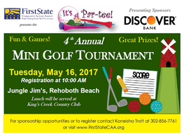 Save the Date for our 4th Annual Mini Golf Tournament!