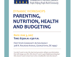 Parenting Workshop Series June 3rd