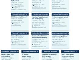 COVID19 PopUp Testing Sites 12/28-12/31/2020 NCC
