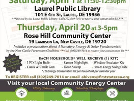 April Energy Conservation Workshops