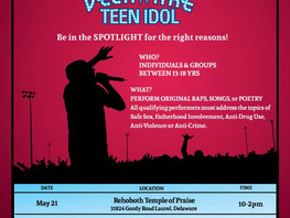 Auditions - 2016 Delaware Teen Idol