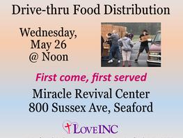 Farmers to Families Drive Thru Food Pantry 5/26/21
