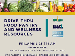 Drive-Thru Food Pantry and Wellness Resources - Friday 4/23/2021