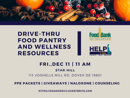 Drive Thru Food Pantry & Wellness Event - Star Hill, Dover, DE