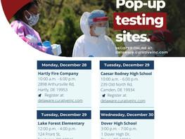 COVID19 PopUp Testing Sites 12/28-12/31/2020 KENT