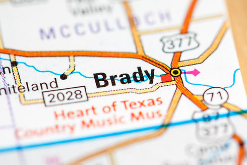 Brady. Texas. USA on a map.jpg