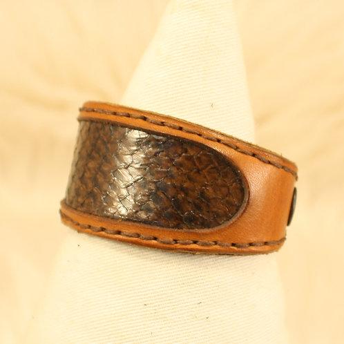 bracelet cuir saumon