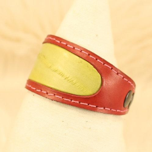 bracelet cuir anguille