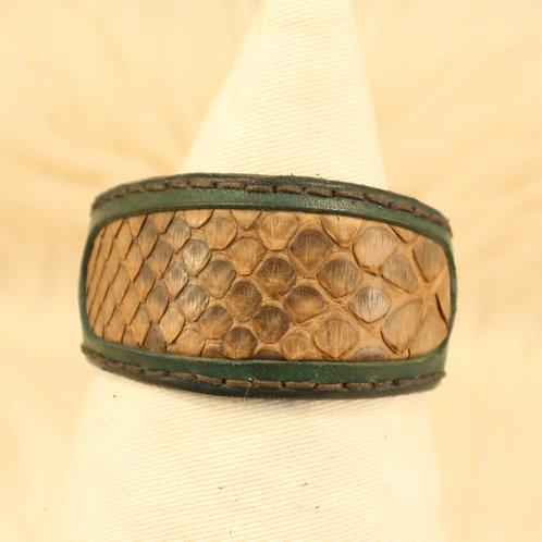 bracelet cuir serpent