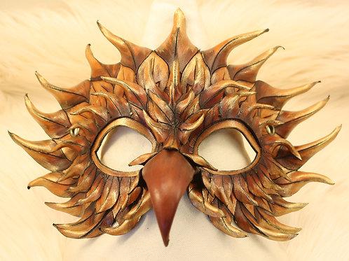 masque aigle or et marron