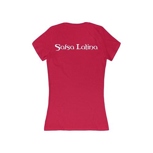 SL Women's Jersey Short Sleeve Deep V-Neck Tee