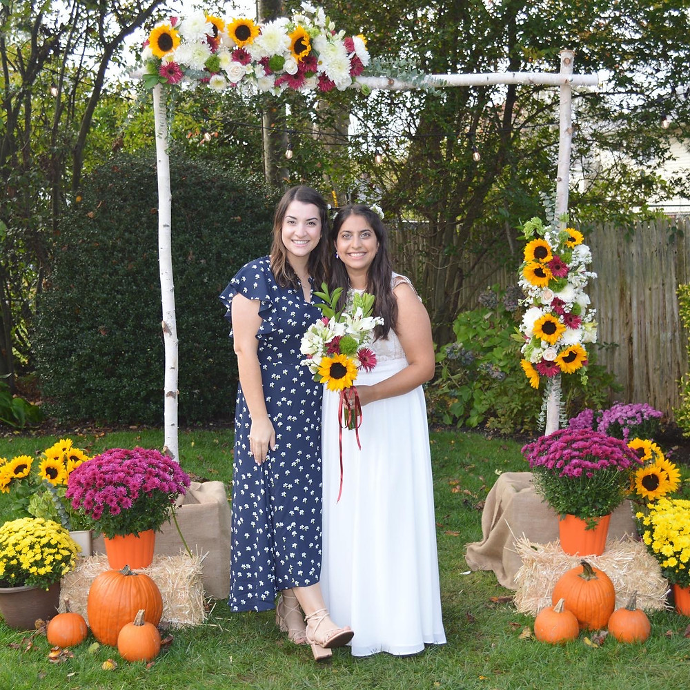 How to build a floral arch for your small backyard wedding