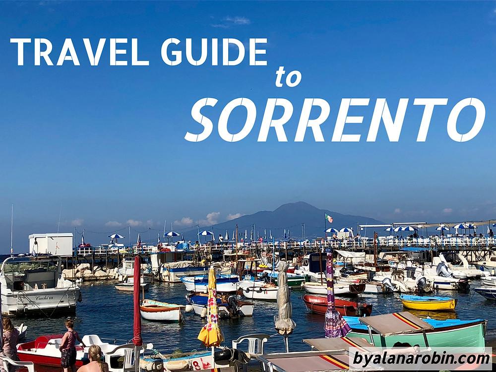 travel guide, sorrento