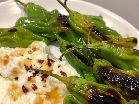 Blistered Shishito Pepper & Whipped Ricotta Appetizer Recipe