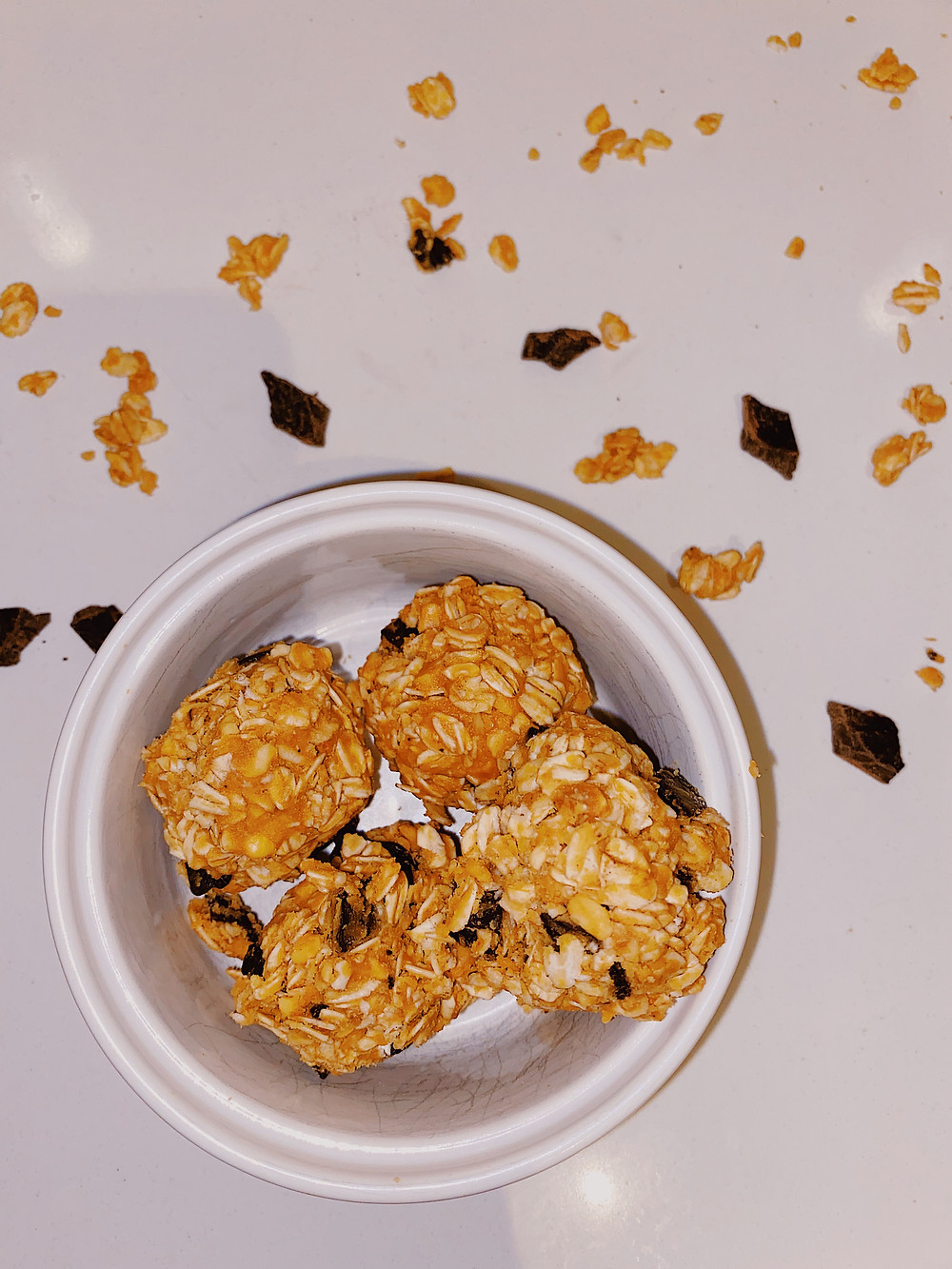 no bake peanut butter and oat balls