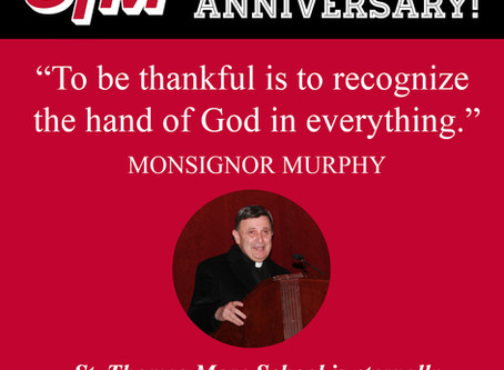 Happy 40th Anniversary Monsignor Murphy