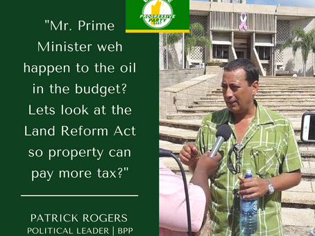 """MR. PRIME MINISTER WEH HAPPEN TO THE OIL IN THE BUDGET?"""