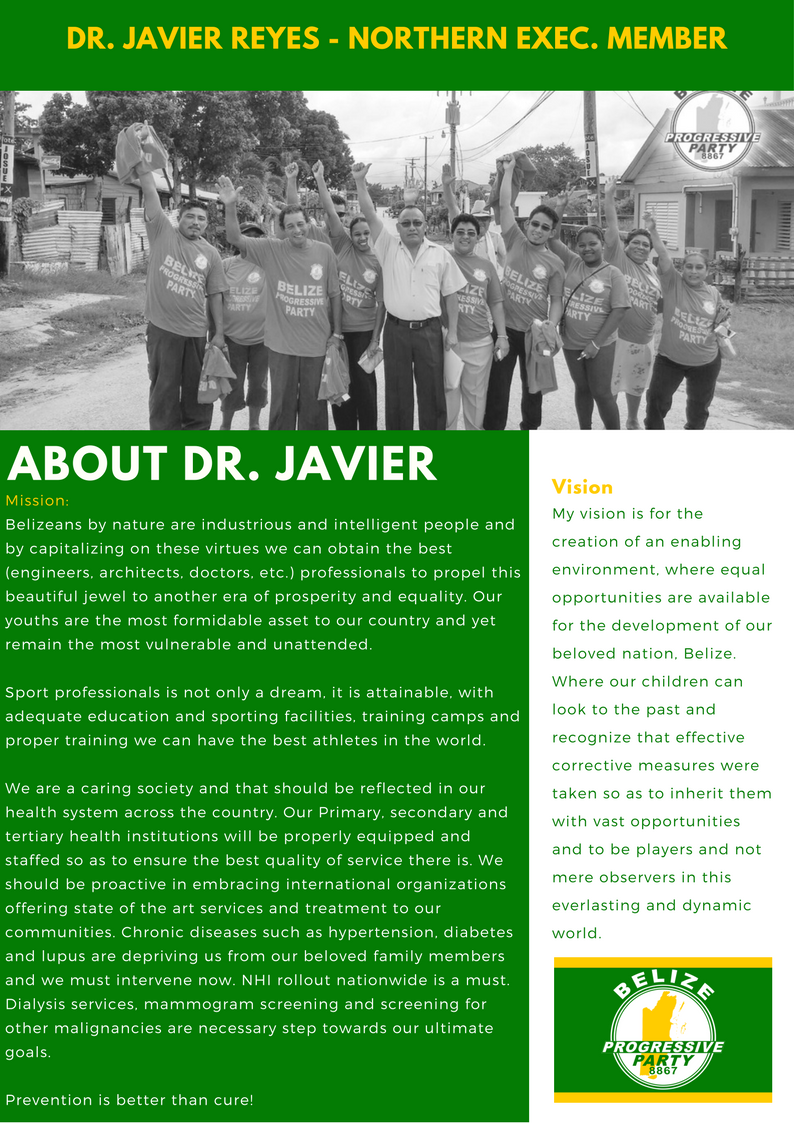 About Pearlene Jones Northern Executive Member of the Belize Progressive Party