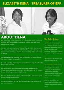 About Elizabeth Dena Treasurer of the Belize Progressive Party