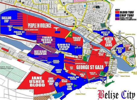 MAP OF BELIZE CITY GANG TURF