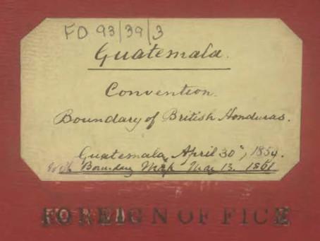 Guatemala and United Kingdom Signs 1859 Treaty
