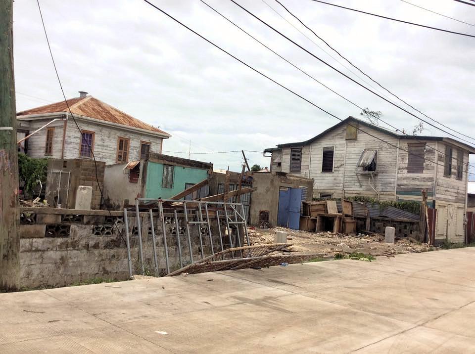 Hurricane Earl Damage in Belize City