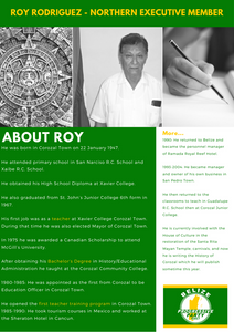 About Roy Rodriguez Northern Executive Member of the Belize Progressive Party