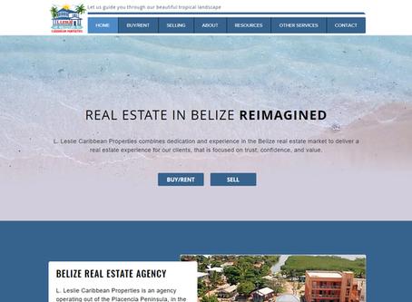 RECENT WEBSITE PROJECT: Leslie Properties in Placencia