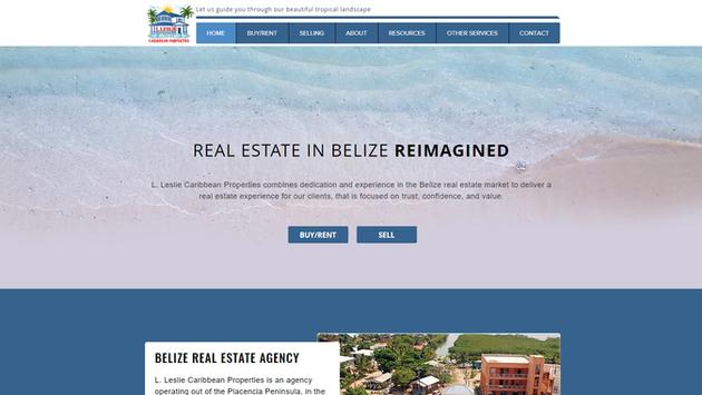 L Leslie Caribbean Properties Website Project