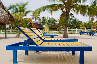 beach chairs on Placencia beach