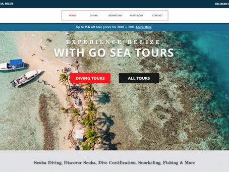 RECENT WEBSITE PROJECT: Go Sea Belize Tours