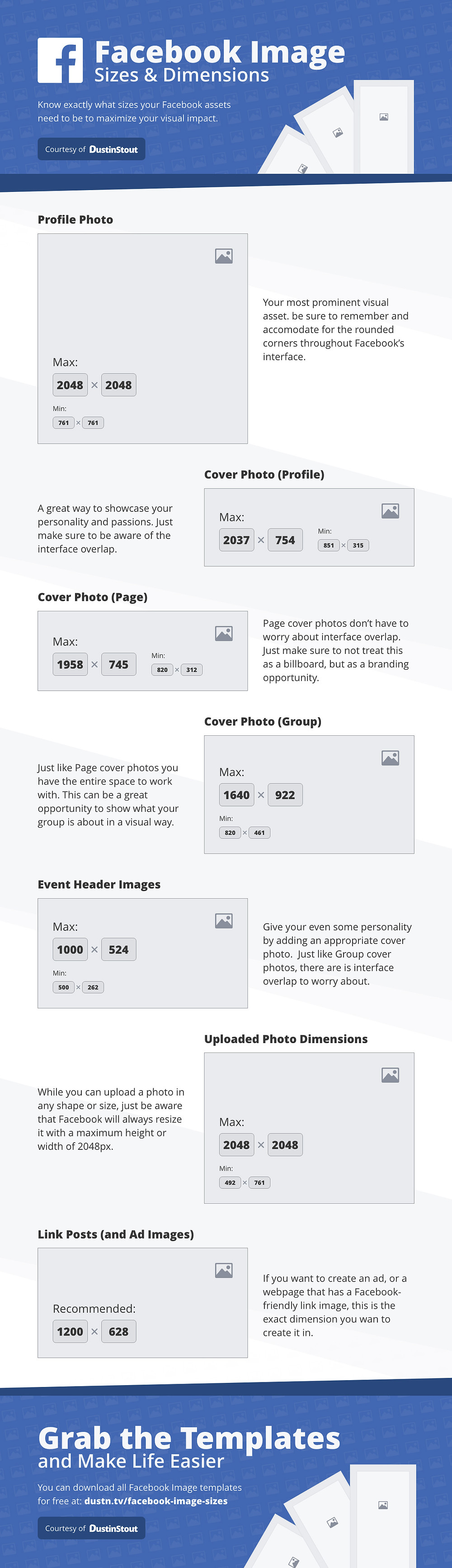 Facebook Image Sizes 2019 Infographic