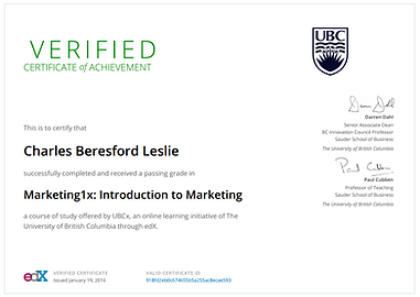 UBCx Marketing1x Certificate _ edXpng_Pa Charles Leslie Jr