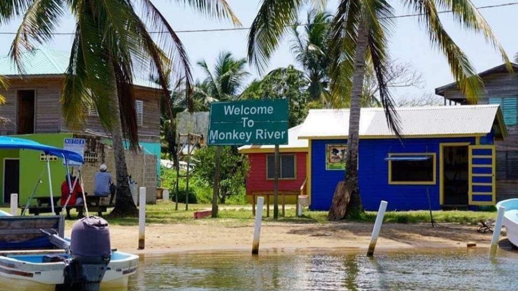 Entrance to Monkey River Village