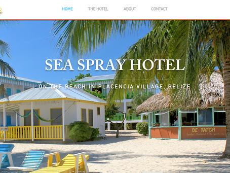 RECENT PROJECT: Website Re-Design For Seaspray Hotel Placencia