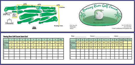 Belize golf course scorecard