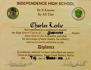 High School Diploma in Business Charles Leslie Jr